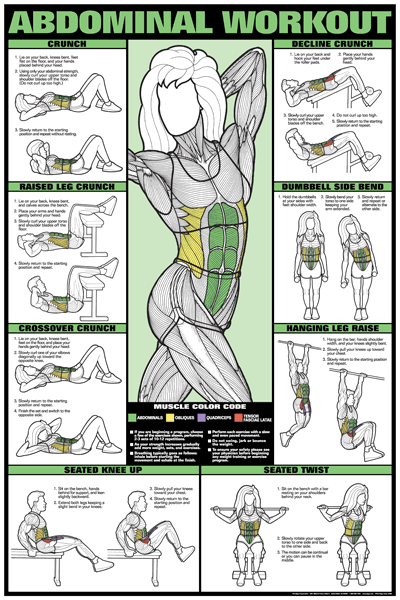 Abdominal Workout Fitness Chart (Co-Ed) #fitness8reviews