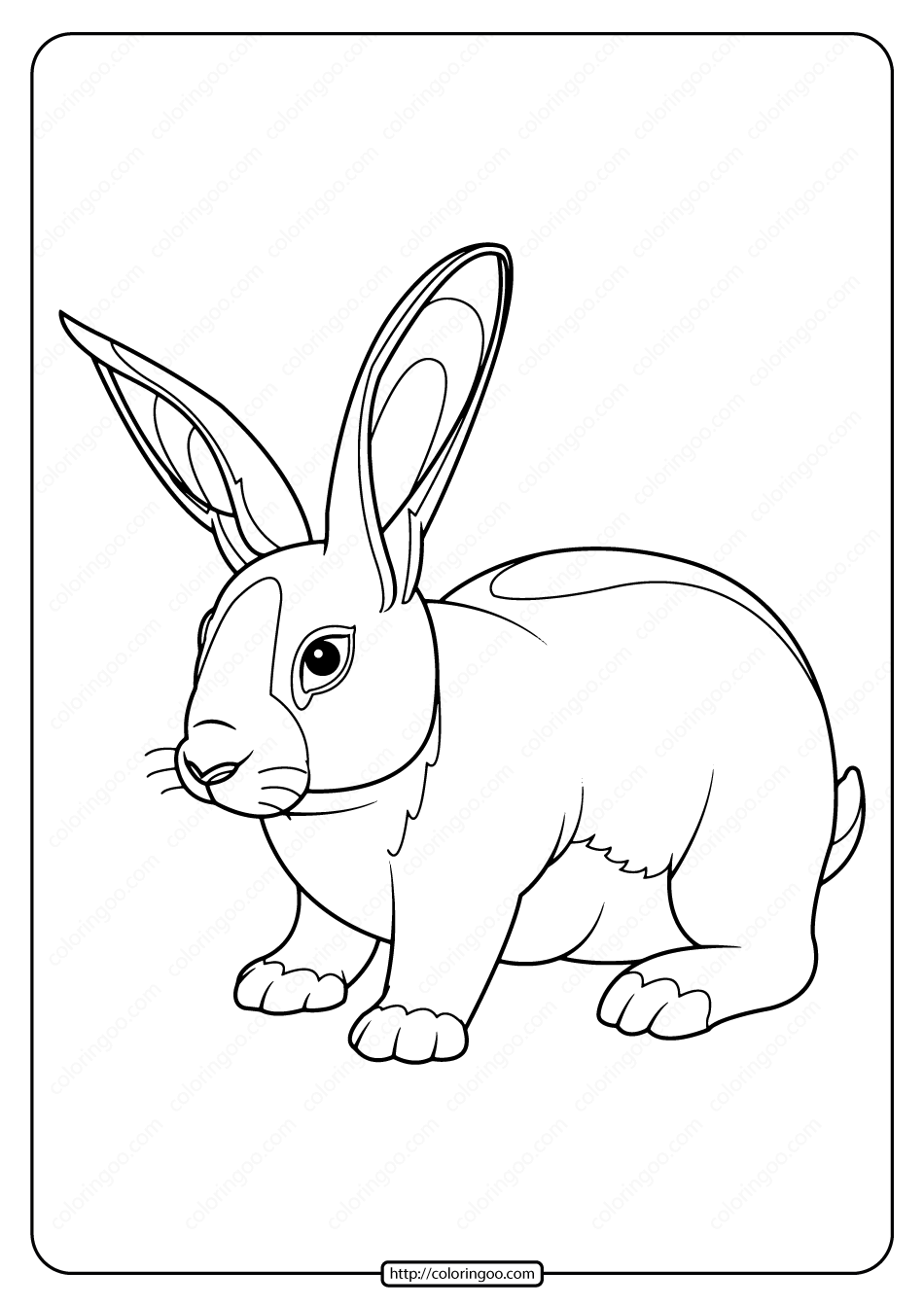 Printable Baby Rabbit Pdf Coloring Page Toddler Coloring Book Rabbit Colors Printable Coloring Book