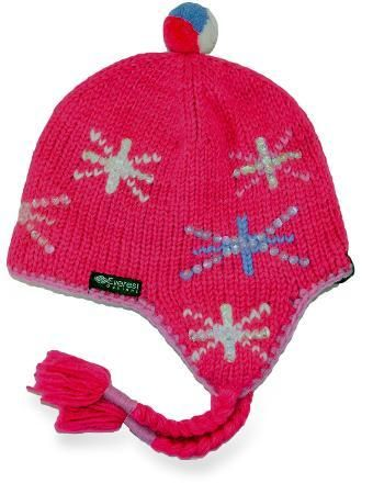be1947e2a07 The Everest Designs Twinkle earflap hat is knit in the shadow of Mount  Everest. It features colorful stars and a comfortable fleece lining.