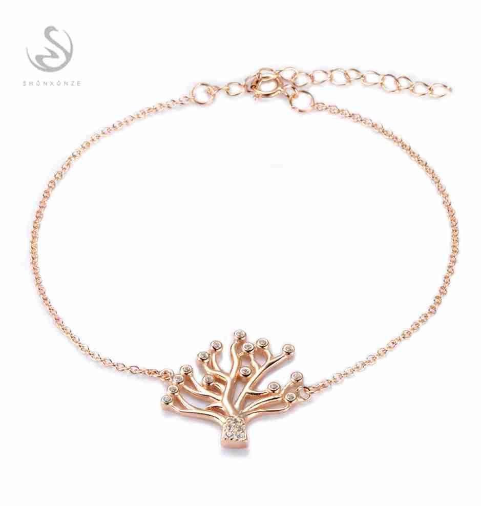 Shinning sterling silver white cubic zirconia bracelets sjs