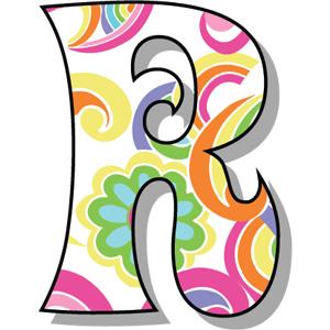 Buchstabe Letter R Letreiros Lindos Moldes De Letras