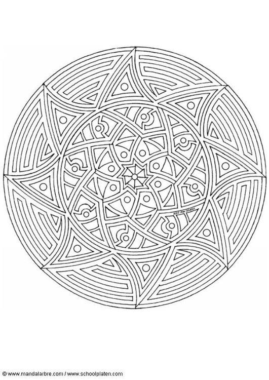 Coloring Page Mandala 1702m Mandala Coloring Mandala Coloring