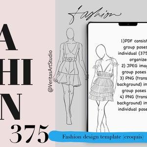 375 Female Fashion Design Figure Croquis Template Female Etsy In 2021 Fashion Figure Templates Fashion Design Drawing Templates