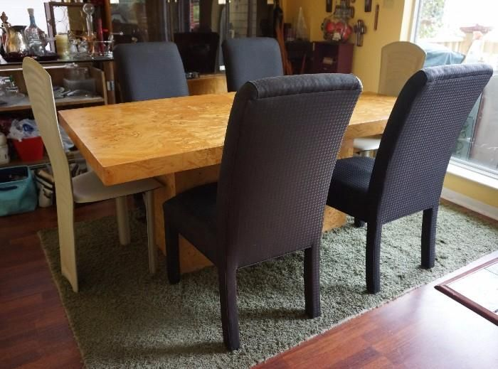 Estate Sale Dining Room Furniture Found On Estatesales Modern Dining Table And Matching Hutch