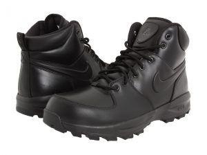 Nike Manoa Leather Men's Lace-up Boots Black/Black/Black