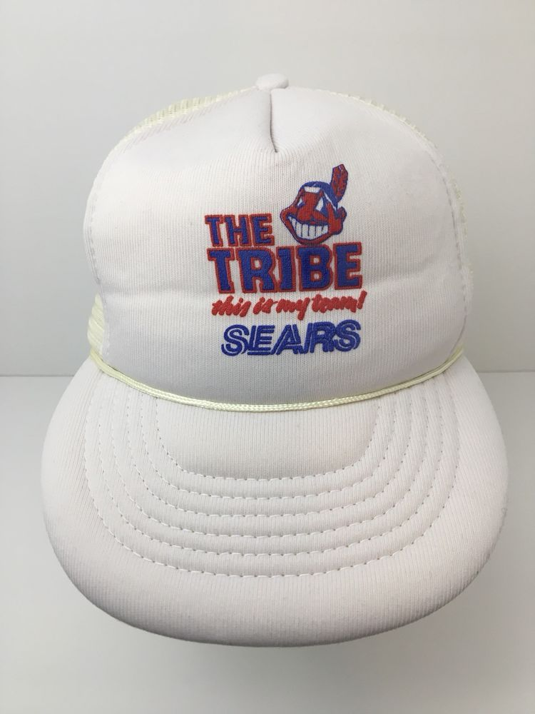 0bf787baf3ca4 Vintage Cleveland Indians Foam Hat Chief Wahoo The Tribe My Team Sears   Capital  ClevelandIndians