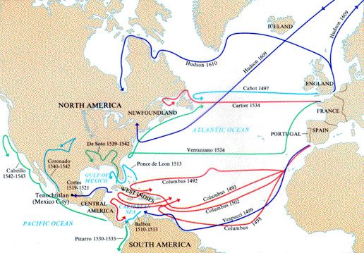Routes Of Ancient Explorers Looking At Food