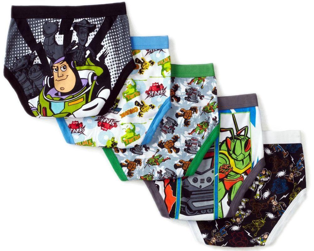 Disney Toy Story 5 Pack Boys Brief Underwear 736761 4 8 Woody Buzz