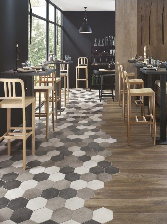 Melange Parquet Carrelage Ideal Pour Cuisine Ouverte Flooring Floor Design Trending Decor