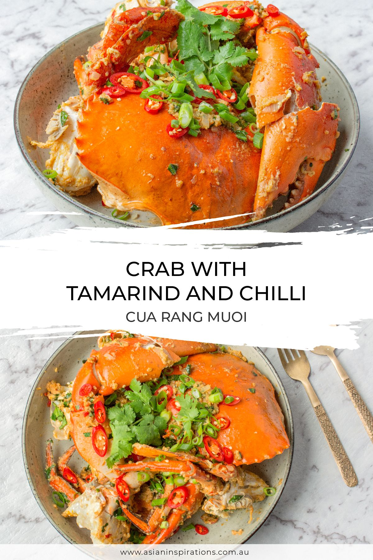 crab with tamarind and chilli cua rang muoi  recipe