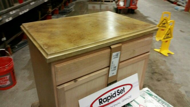 Countertop Made With Rapid Set Mortar Mix Materials Were Mixed