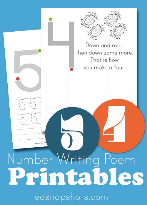 Learn to Write Numbers: Four and Five   Ocean, Number and Learning