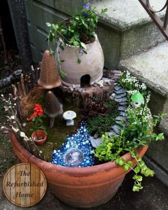Building a Fairy Garden- with a Twist! from TheRefurbishedHome