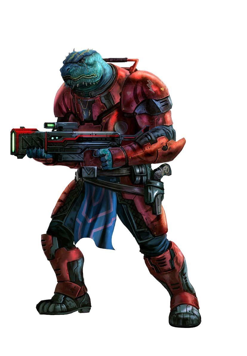 Vrokilayo Hatchbuster, Vesk Soldier - Starfinder RPG (Dead