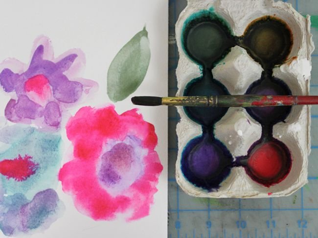 Diy Watercolor Paint Made With Common Kitchen Supplies Art Craft