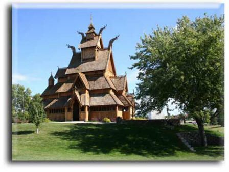 A Full Size Replica Of The Gol Stave Church Which Was Moved From Gol Hallingdal To The Folk Museum In Bygdoy Park In O North Dakota Travel Minot North Dakota
