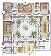 Garden Architecture Plan Courtyards 35 Best Ideas Courtyard House Courtyard House Plans House Plans