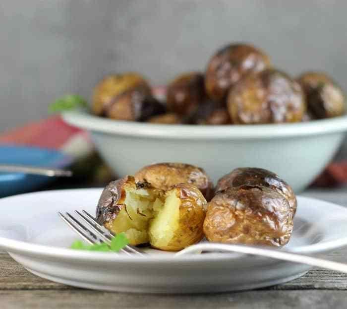 Oven Roasted Baby Potatoes Recipe Small Potatoes Recipe Food Food Recipes
