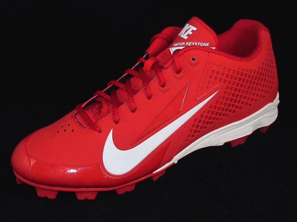 Nike Vapor Keystone Low Molded Baseball Cleats Mens Size 12 Red/White
