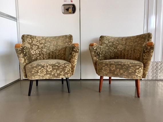 1 Of 2 Rare 50er 60er Retro Cocktailsessel Sofa Stuhle Sideboard Teak Schrank Vintage Rockabilly Sessel Mid Century Stuhle Mobelreinigung Midcentury Sessel Midcentury Stuhl