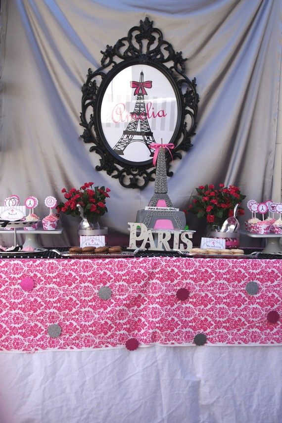 Paris Birthday Decorations - PRINTABLE Party Package Collection