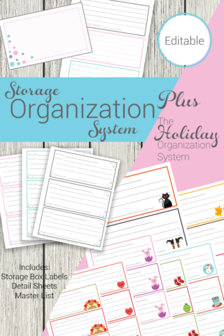 Storage Organization System Combo Package This is such a great storage organization system It is perfect for storing the kids old clothes and the cute labels for all my h...