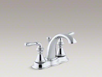 Kohler K 393 N4 Devonshire Centerset Bathroom Sink Faucet