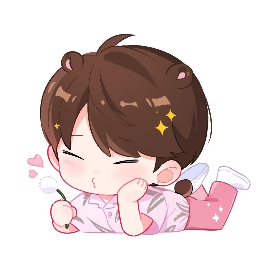 Blowing Dandelion Chibi Boy Cute Anime Chibi Kpop Fanart