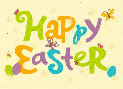 Colorful Easter Happy Easter Card