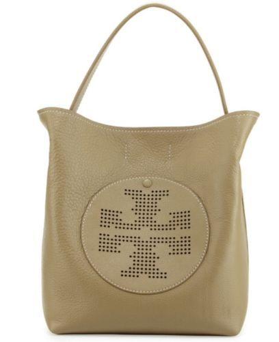 Tory-Burch-Perforated-Logo-Hobo-Bag-Caper-color-NWT