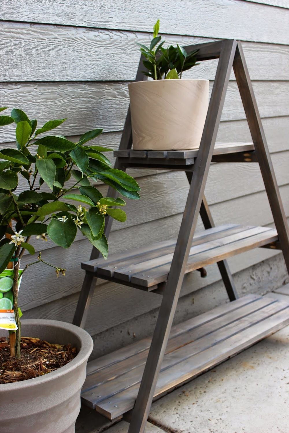 Diy a frame plant stand wooden plant stands diy