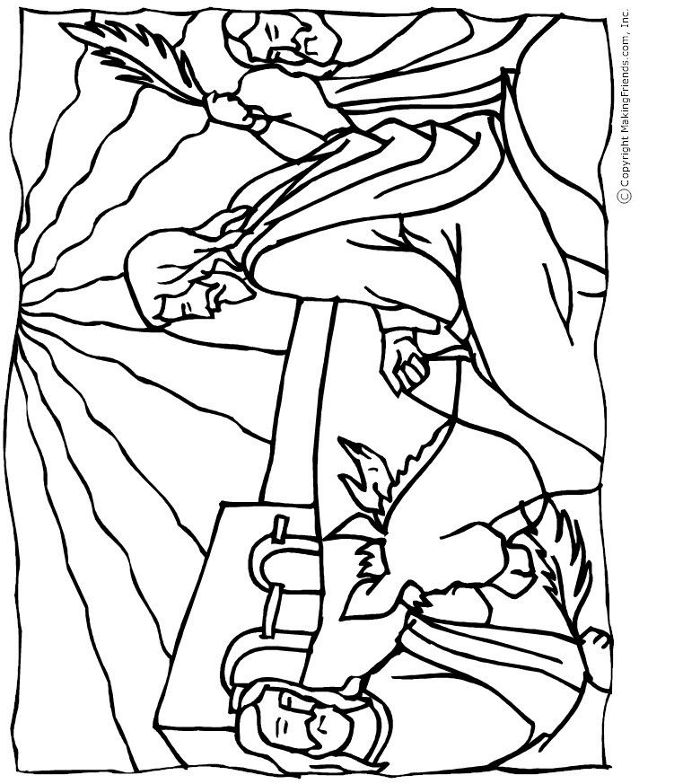 jesus-palm-sunday-coloring-page - Free Kids Crafts