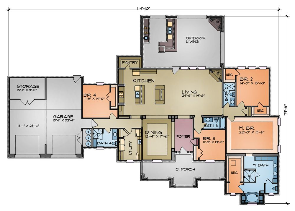 Floor plan image of the sierra plan needs basement and for Ranch floor plans with mudroom