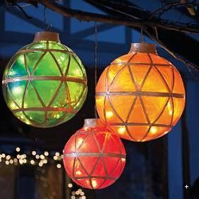 Diy christmas yard decorations diy christmas decorating ideas at illuminated cute idea for an outdoor christmas party aloadofball Image collections
