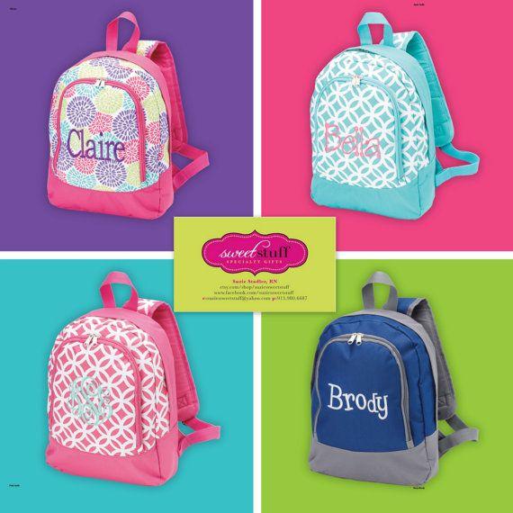 Preschool Toddler Backpack Personalized by suziessweetstuff