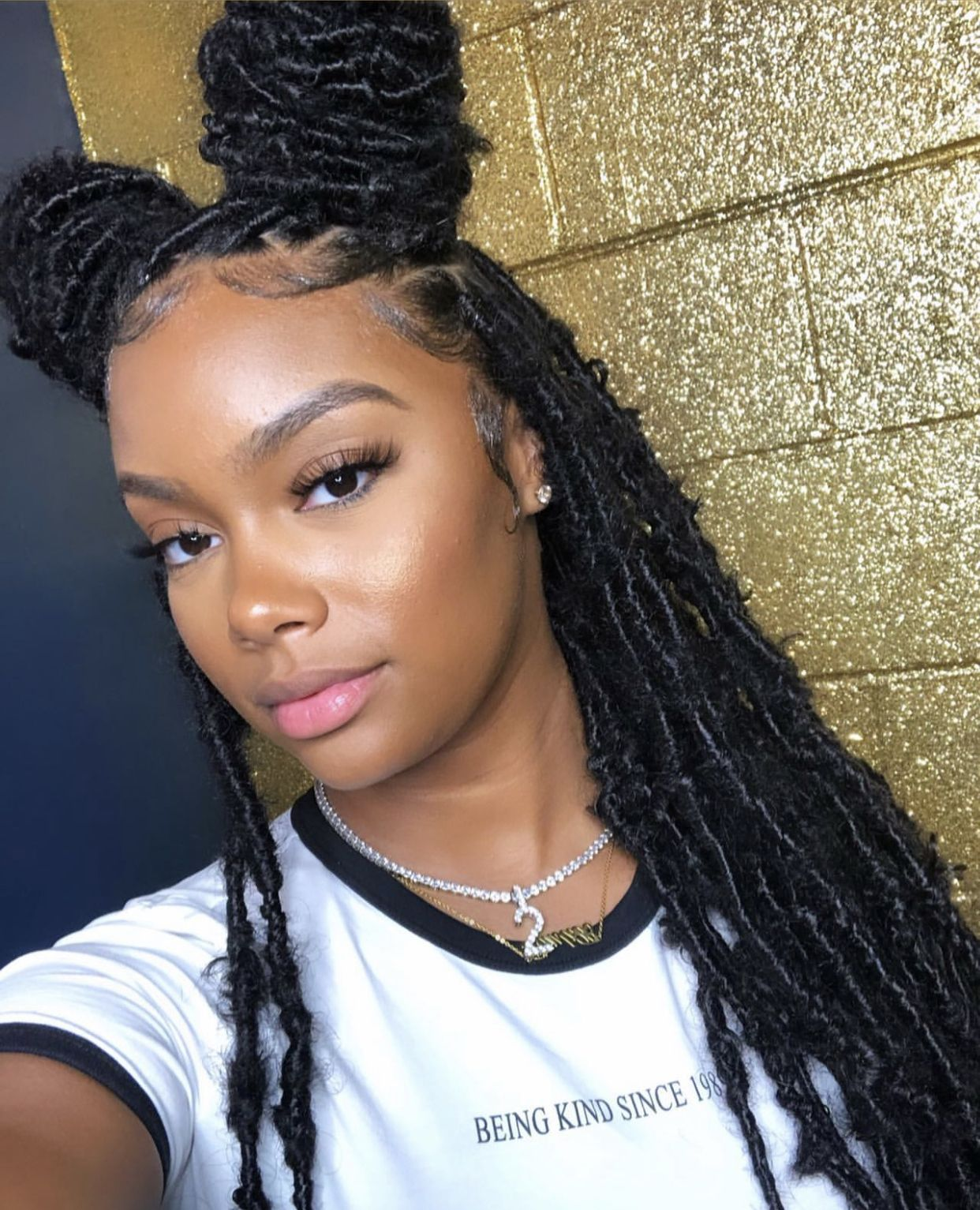 Check Out Simonelovee Faux Locs Hairstyles Natural Hair Styles Braided Hairstyles