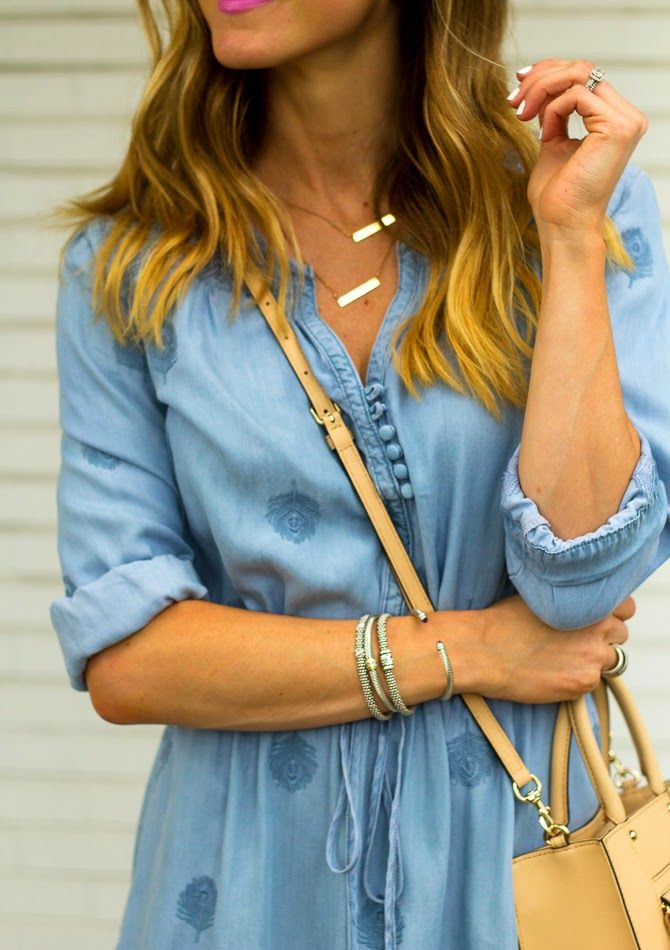 "EMPRINT ""Jessica"" Necklace on @rebeccahillyard Blog! Love the layered look! www.emprintstamping.com"