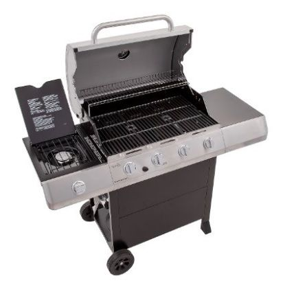 Char Broil Classic 4 Burner Gas Grill Open Close Up