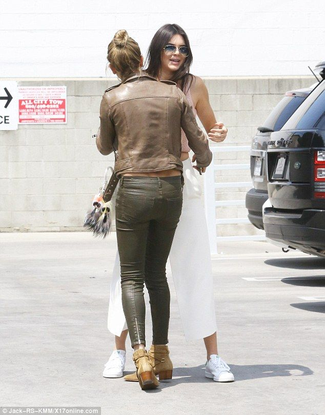 Hugging it out: The 19-year-old Jenner and the 18-year-old Baldwin have become even closer...