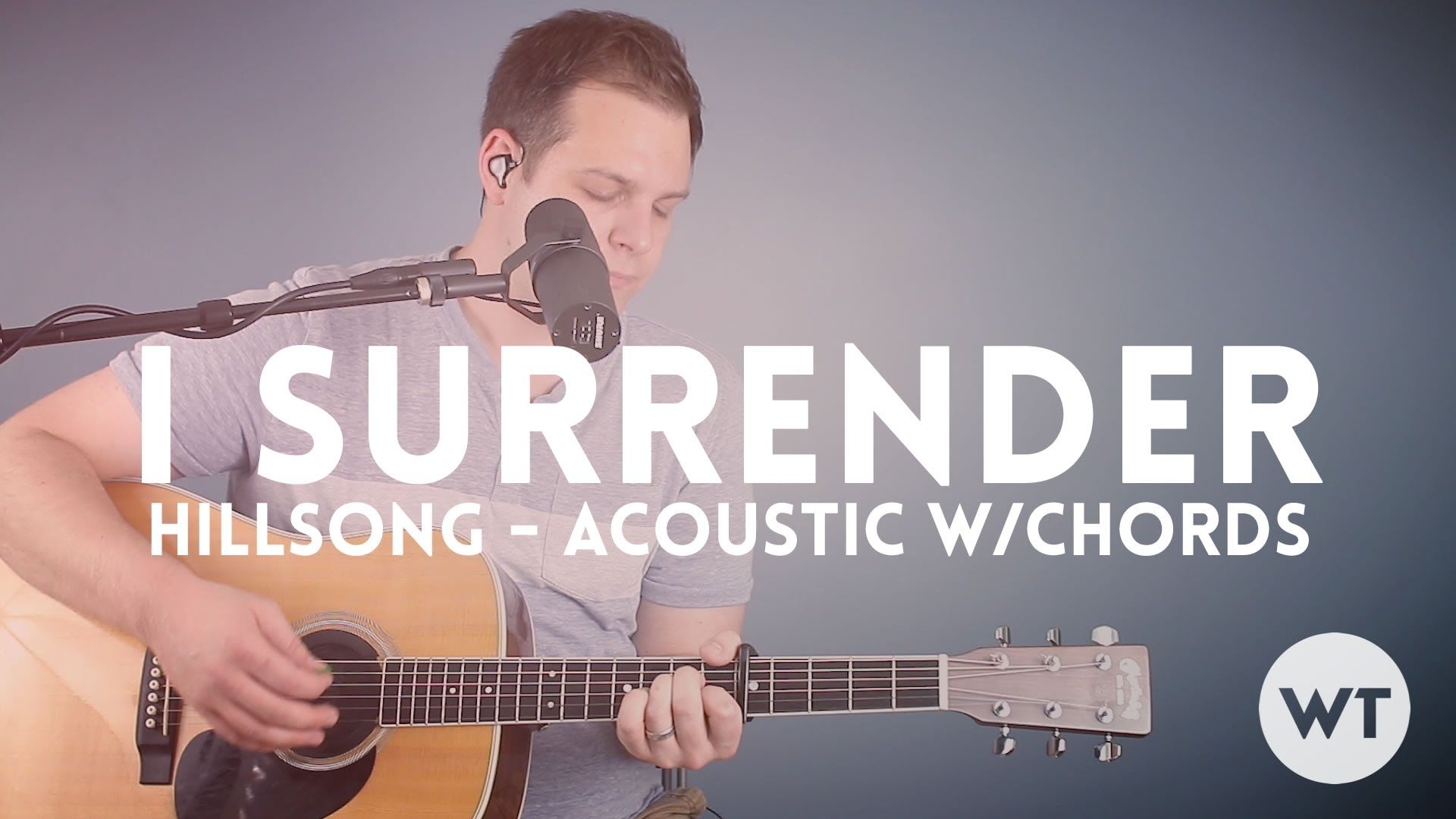 I Surrender Hillsong Acoustic With Chords Guitar Lessons Free
