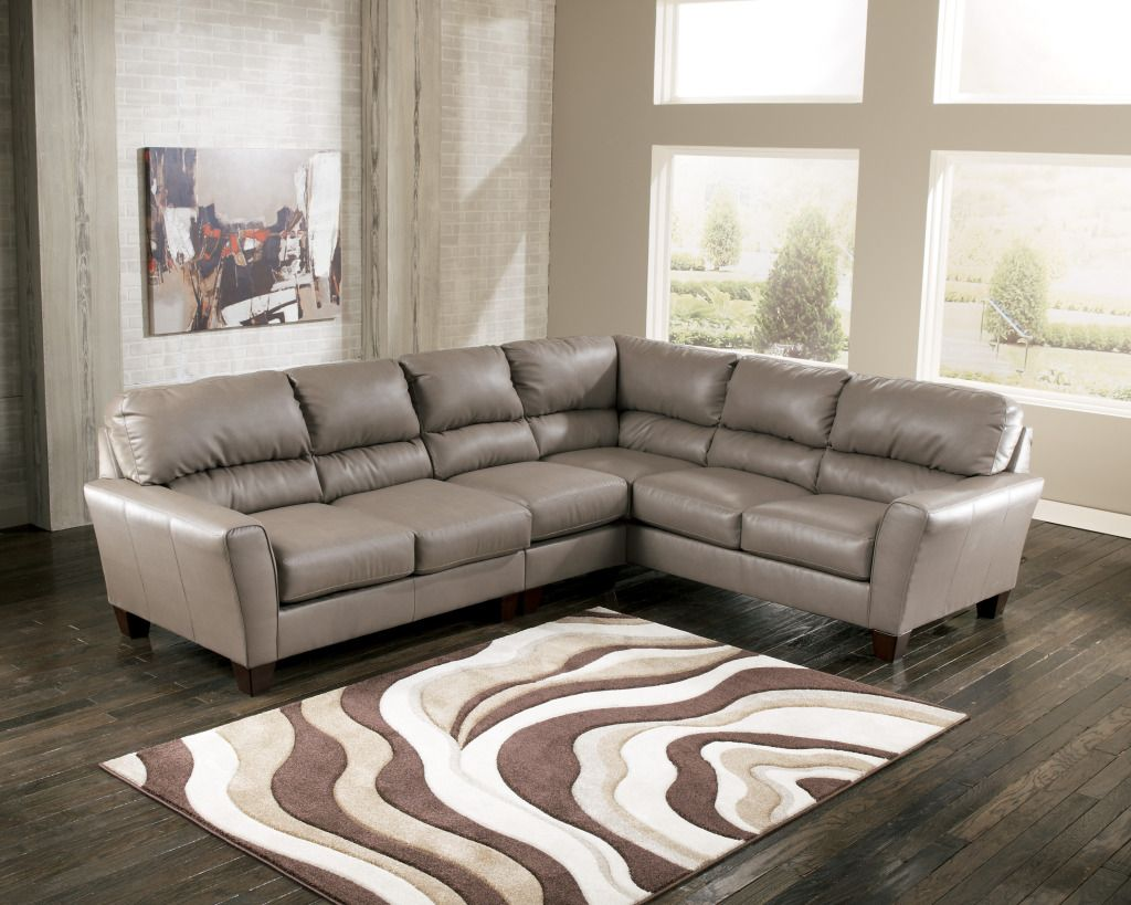 Gray Sectionals On Sale Ashley Gray Leather Sectional