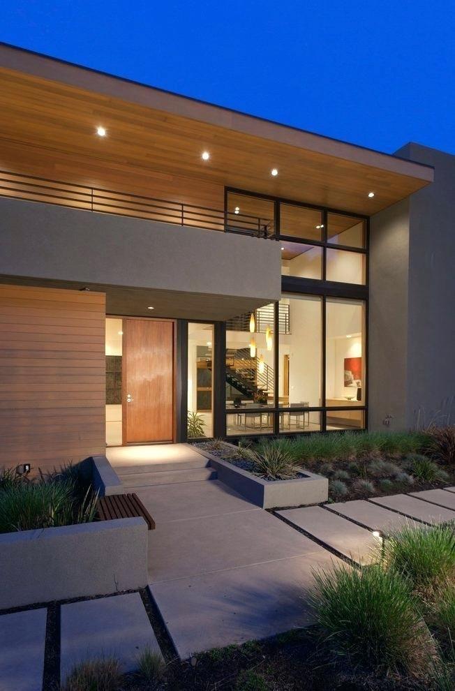 Exterior House Designs Exterior Modern With Concrete Patio Flat Roof: Modern Farmhouse Exterior, Modern Exterior, Facade House