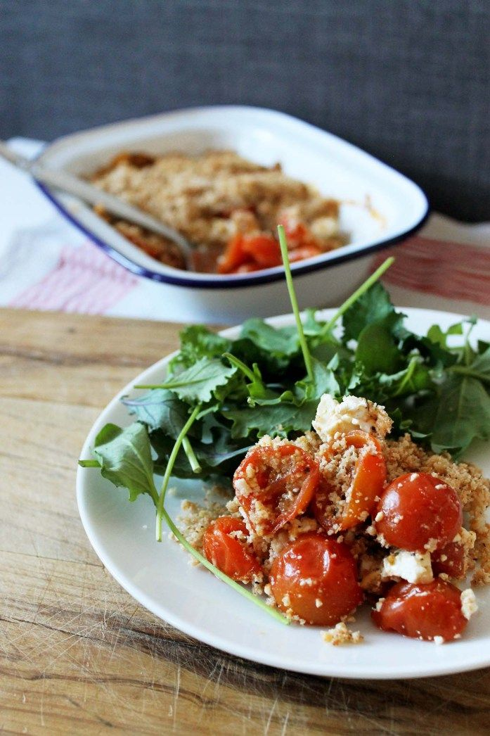 TOMATO AND FETA CRUMBLE #food #foodporn #foodies