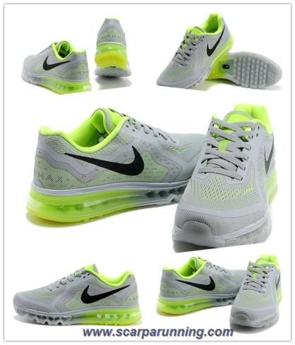 in stock 0f0ac 668aa comprare scarpe online Cool Gray Fluorescent Verde Nero 621077-007 Nike Air  Max 2014