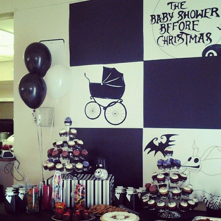 Nightmare Before Christmas Baby Shower | Christmas Decorating
