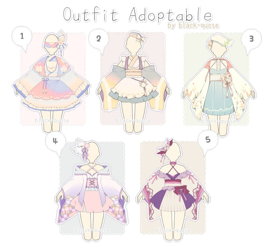 Closed Sweet Japanese Outfit Adopts Auction By Black Quose