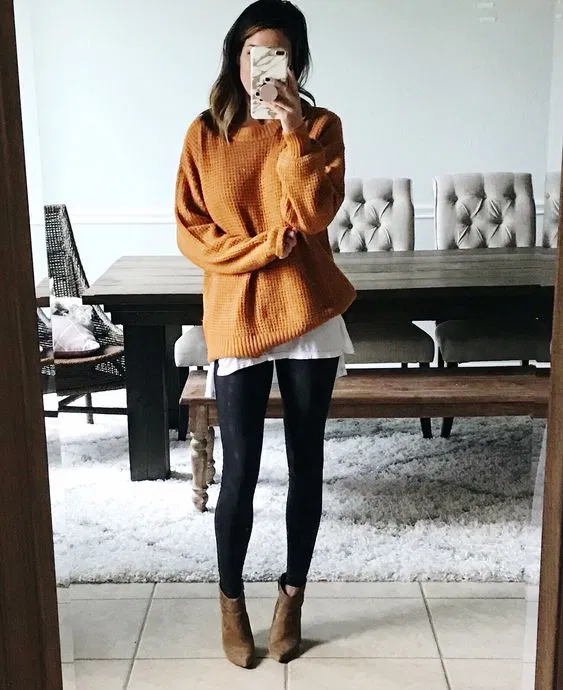 Tenues confortables élégantes télétravail... 8 tenues simples à copier -   17 dress Winter leggings ideas
