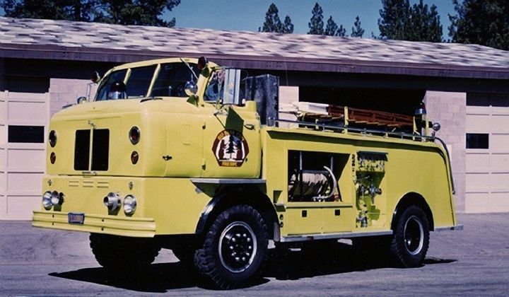 1956 FWD Calavar Fire Truck Big Bear City California Factory Photo ca6096