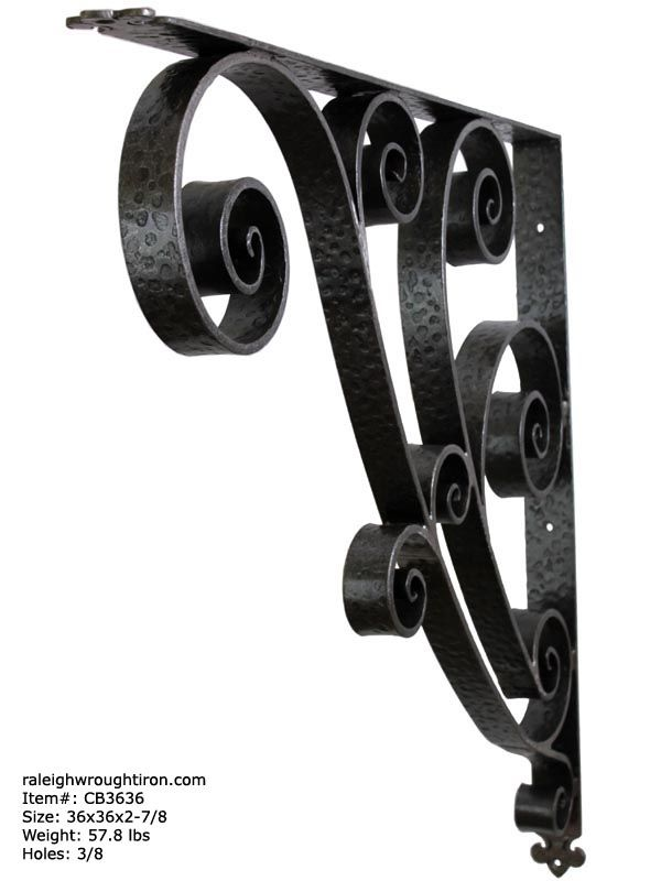 Iron Porch Canopy Brackets and Awning Corbels  sc 1 st  Pinterest & Our canopy bracket can be used to support structural elements such ...