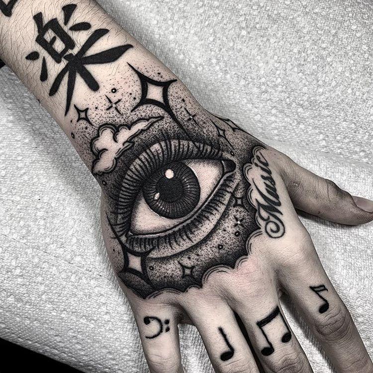 Blackwork Inspiration Inkstinct Hand tattoos, Hand